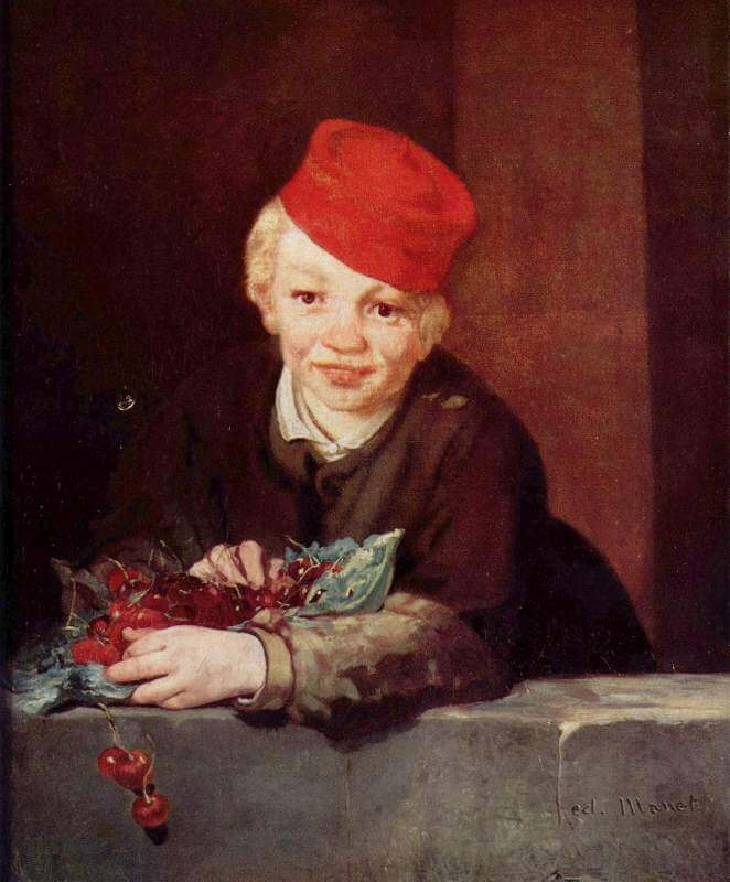 Boy with Cherries by Edouard Manet