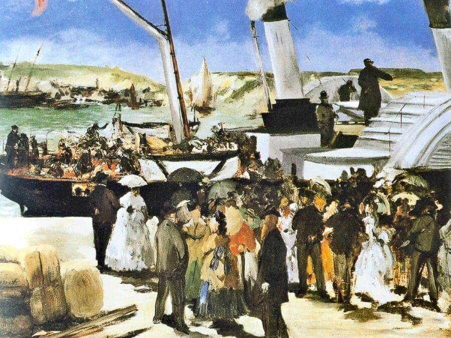 Departure of the Folkestone Boat, 1869 by Edouard Manet