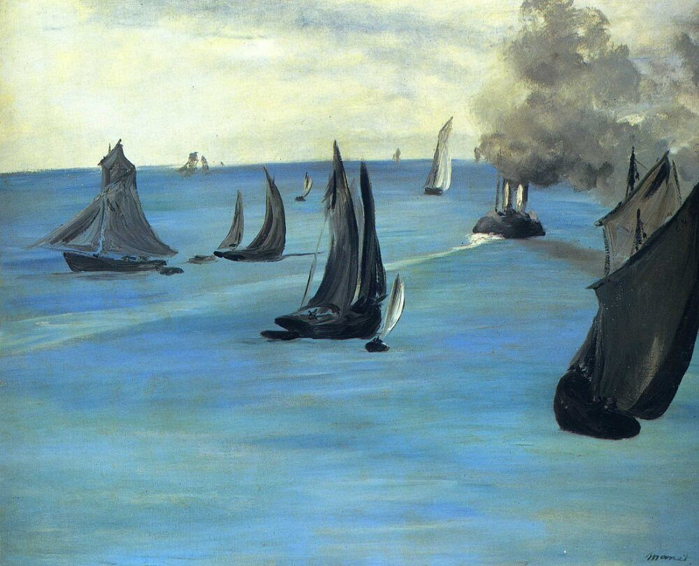 Steamboat Leaving Boulogne, 1864 by Edouard Manet