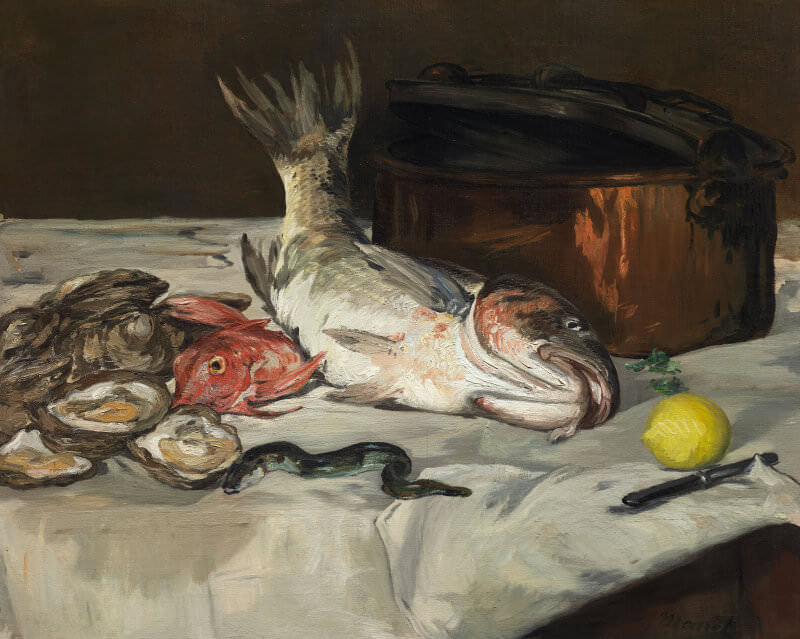 Still Life with Carp, 1864 by Edouard Manet
