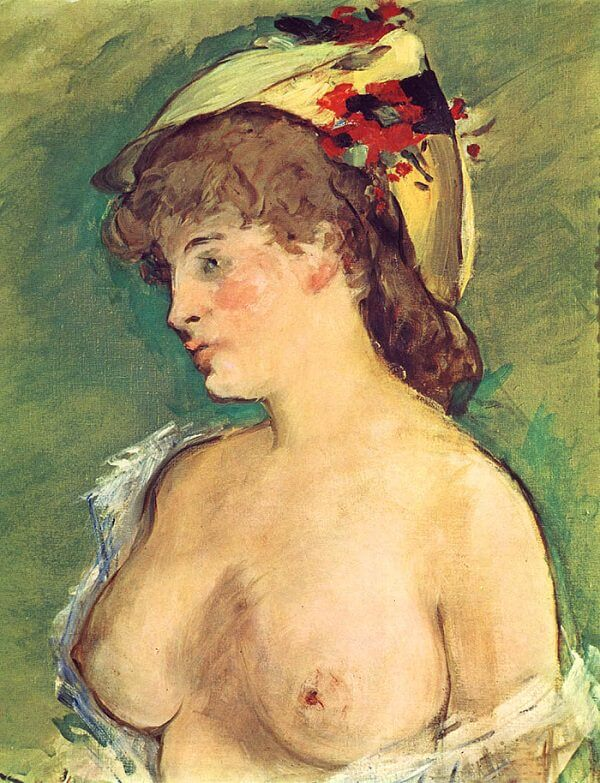 The Blonde with Bare Breast, 1878 by Edouard Manet
