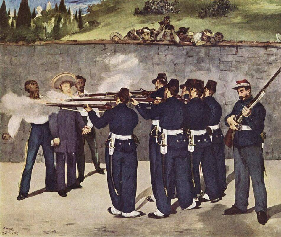The Execution of Emperor Maximillian, 1867 by Edouard Manet