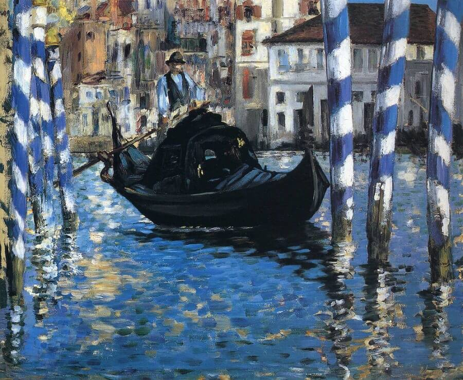 The grand canal of Venice, 1875 by Edouard Manet